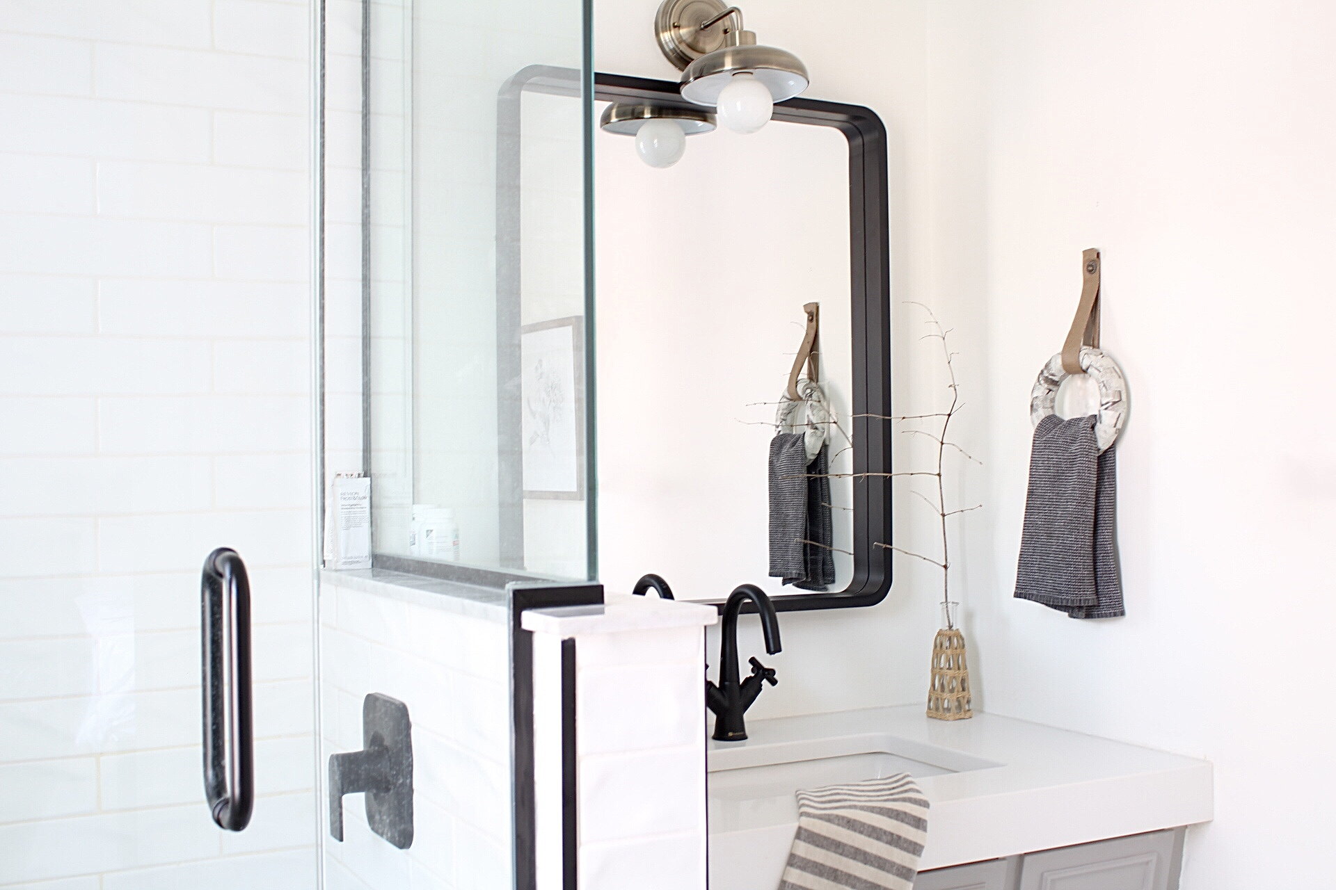 Bathroom Renovation with a DIY Towel Ring