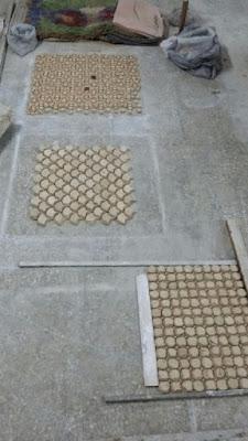 Preparación para la unión de los mosaicos