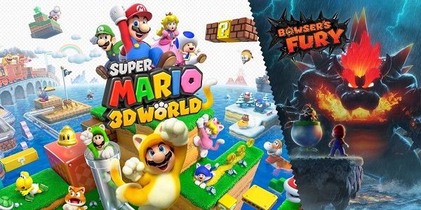 Super Mario 3D World + Bowser's Fury Front & Back Cover