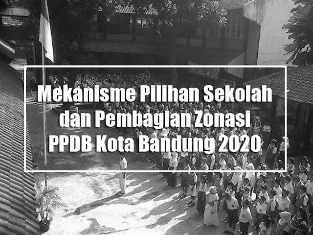 Ini Mekanisme Pilihan Sekolah dan 4 Zonasi di PPDB Kota Bandung 2020