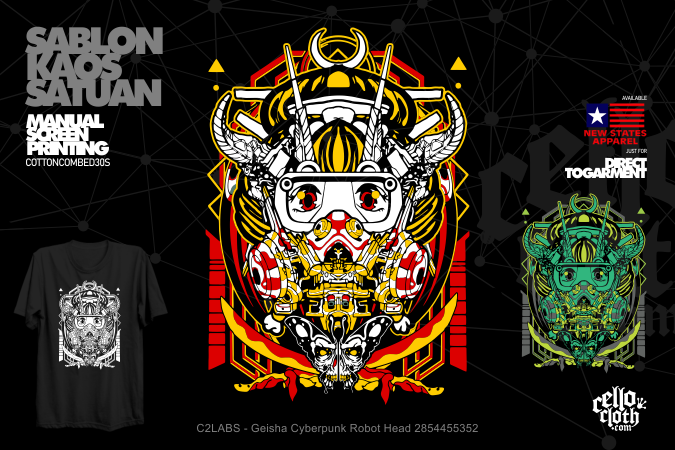 Sablon Kaos Distro Artwork Satuan Rubber or DTG Kornit