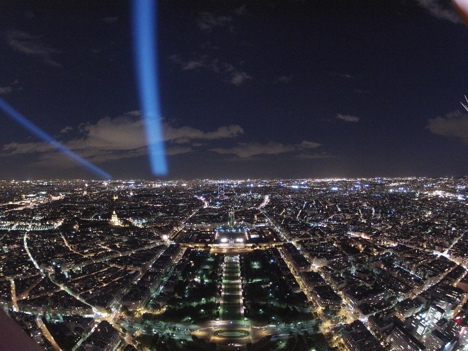 Desde la Torre Eiffel de Noche