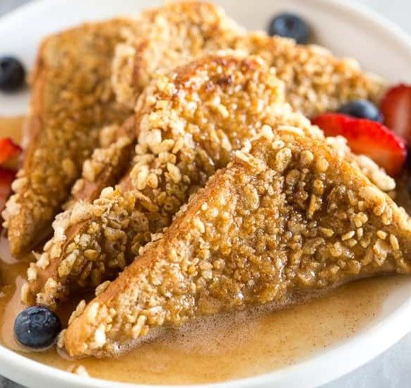 CRUNCHY FRENCH TOAST #recipes #breakfast