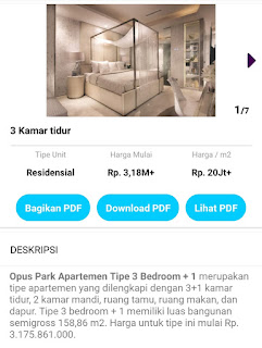 3 bed room Opus Park 0812 8969 2251