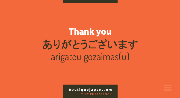 """Arigatou Gozaimasu"" berati terimakasih"