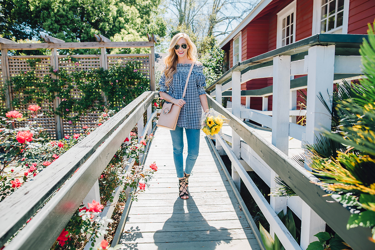 how to wear the off the shoulder trend this spring