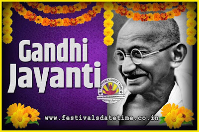 2037 Gandhi Jayanti Date and Time, 2037 Gandhi Jayanti Calendar