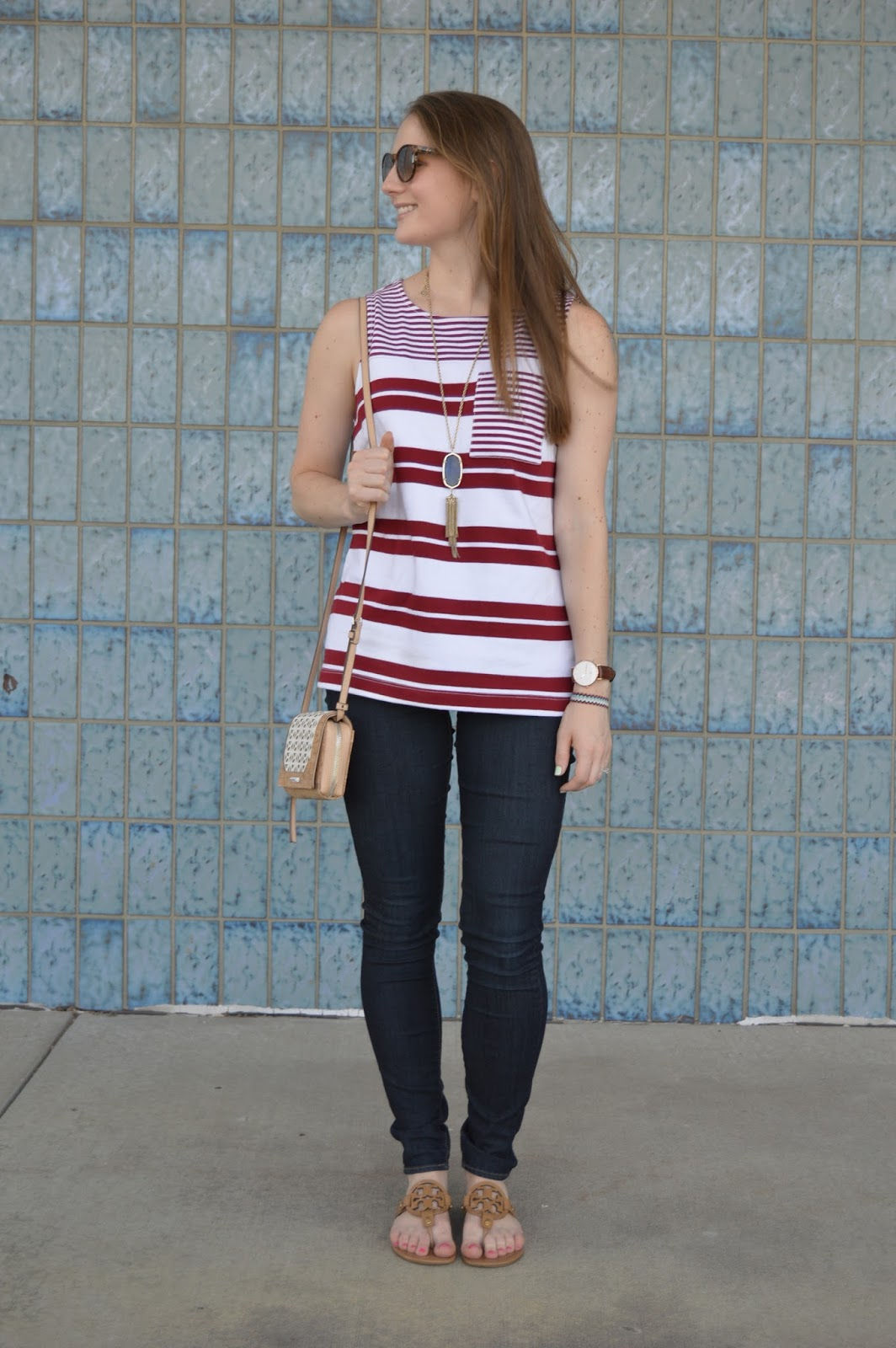 cute outfits to wear this summer | a memory of us | kansas city fashion blog | what to wear this summer | fourth of july outfit ideas | fourth of july outfit inspo | what to wear for the fourth of july | red and white striped tank top | red white and blue outfit ideas |