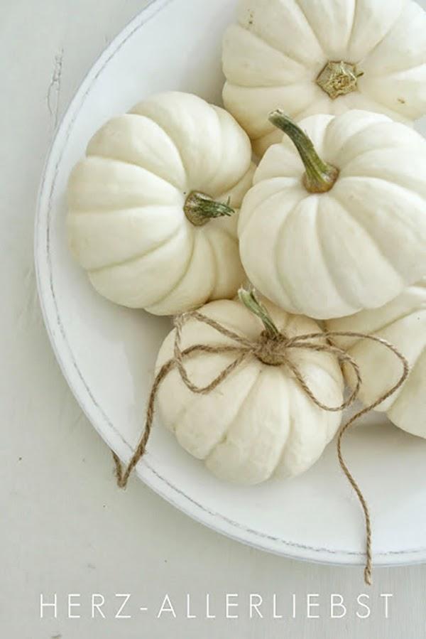 Pretty white pumpkins by Herz Allerbeist @hearthandmadeuk