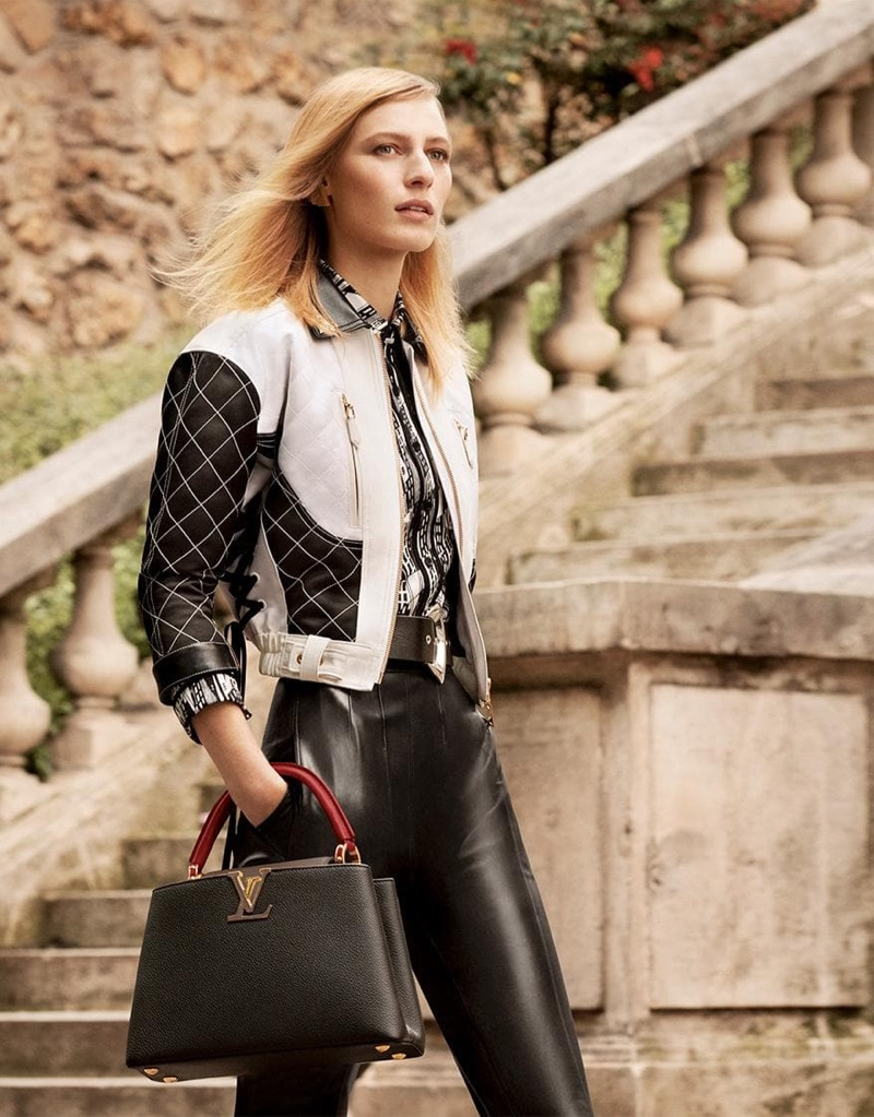 Julia Nobis appears in Louis Vuitton Capucines fall-winter 2019 campaign