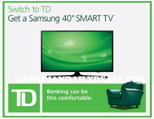 TD Canada Trust Free Samsung TV Offer