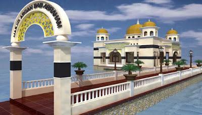 Masjid Apung Argam Bab Al Rahman