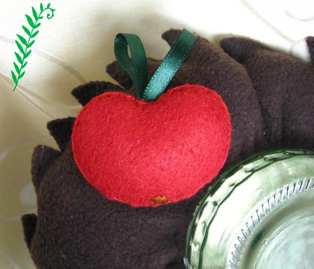 яблоко из фетра