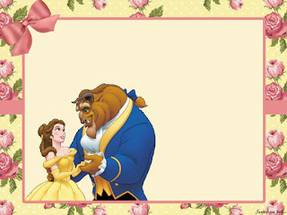 Beauty And The Beast With Roses Free Printable Invitations Labels Or Cards