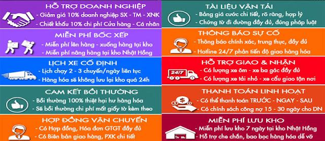 10 cam kết chuyển hàng đi Hà Nam từ Sài Gòn