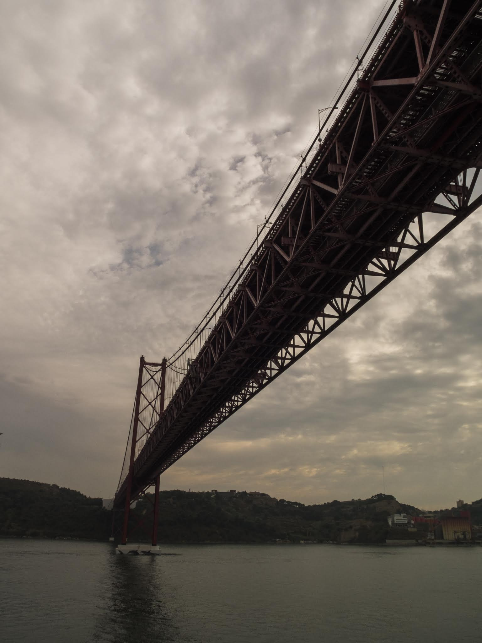 Under the 25 de Abril suspension bridge in Lisbon.