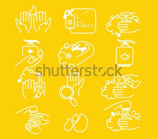 illustration vector simple set of washing