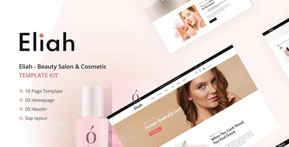 Best Beauty Salon & Cosmetic Elementor Template Kit