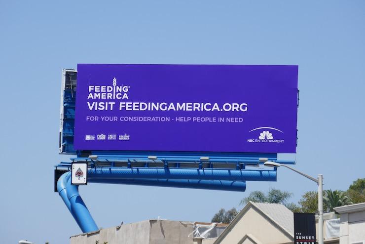 Feeding America NBC Entertainment FYC billboard
