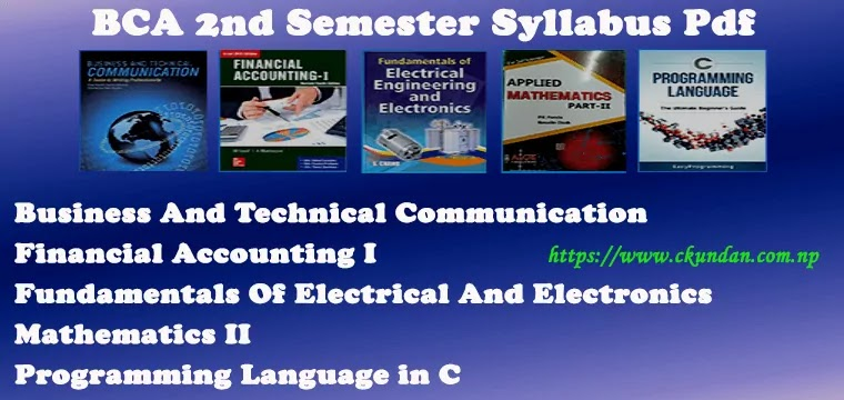 BCA 2nd Semester Syllabus Pdf