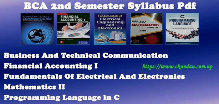 BCA 2nd Semester Syllabus Pdf