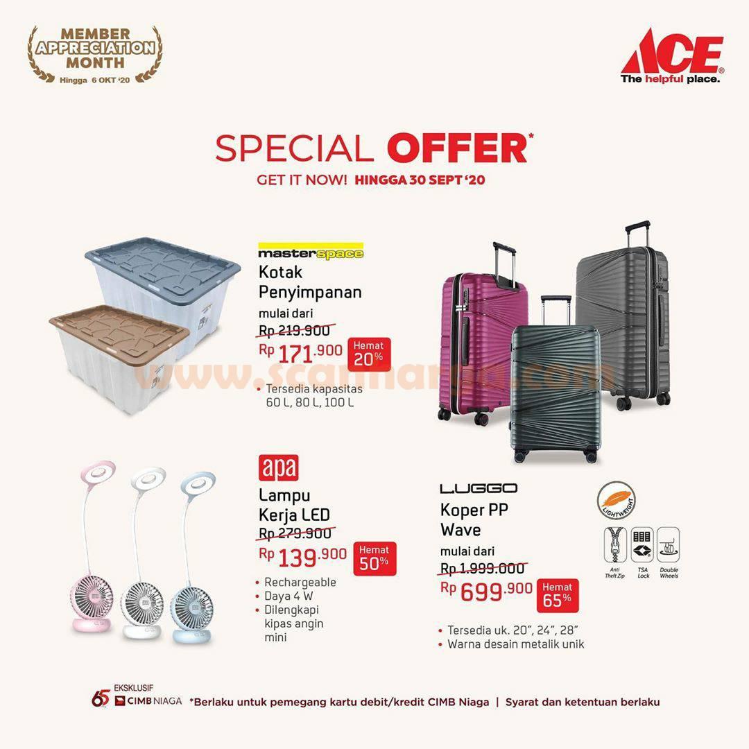 ACE Hardware Promo Special Offer Up To 65% dengan Debit /Kartu Kredit CIMB Niaga