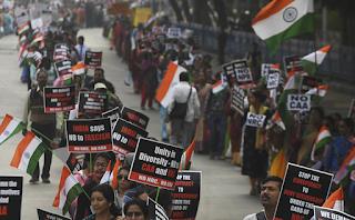 8 آلاف مسيحي في تظاهرة في شرق الهند احتجاجًا على قانون الجنسية