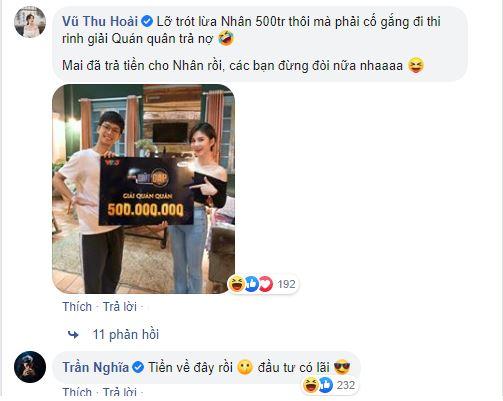 Vừa giành giải 500 triệu đồng, MC Thu Hoài vội vàng mang đi trả nợ