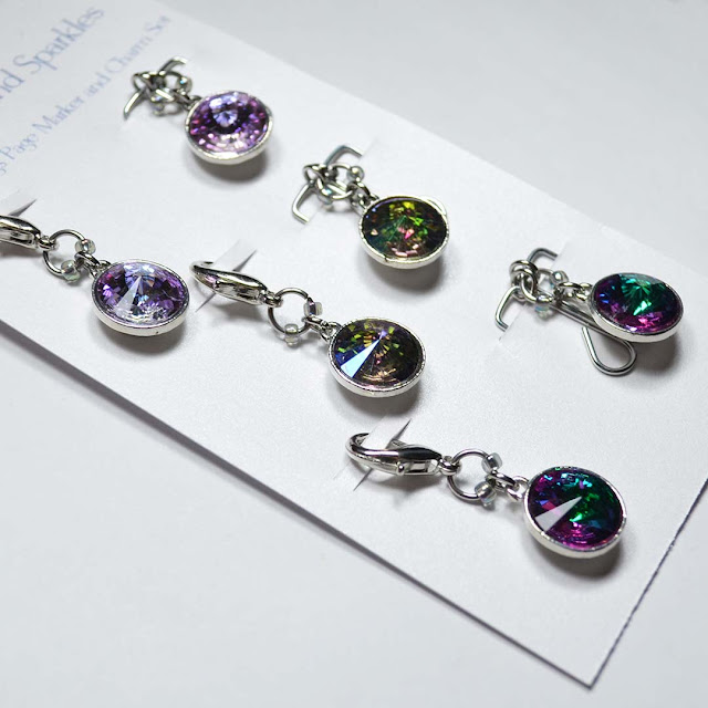 sparkly charm and paperclip set