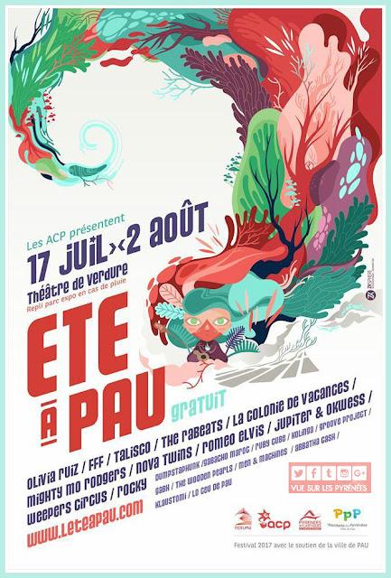 festival gratuit été à pau 2017
