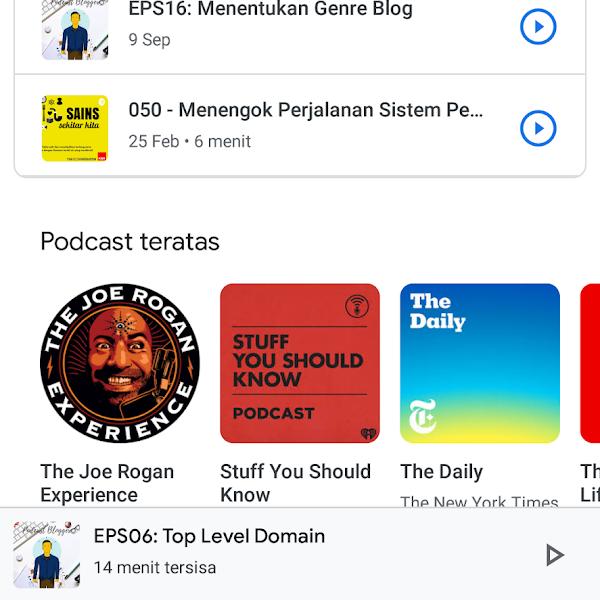 Google Podcast, cara belajar secara Audio