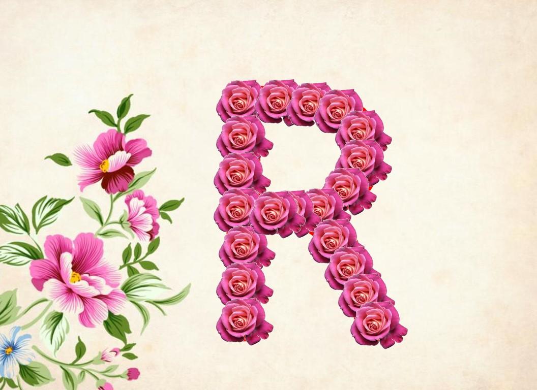 أجمل صور حرف R بالورد الطبيعي