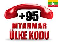 +95 Myanmar ülke telefon kodu