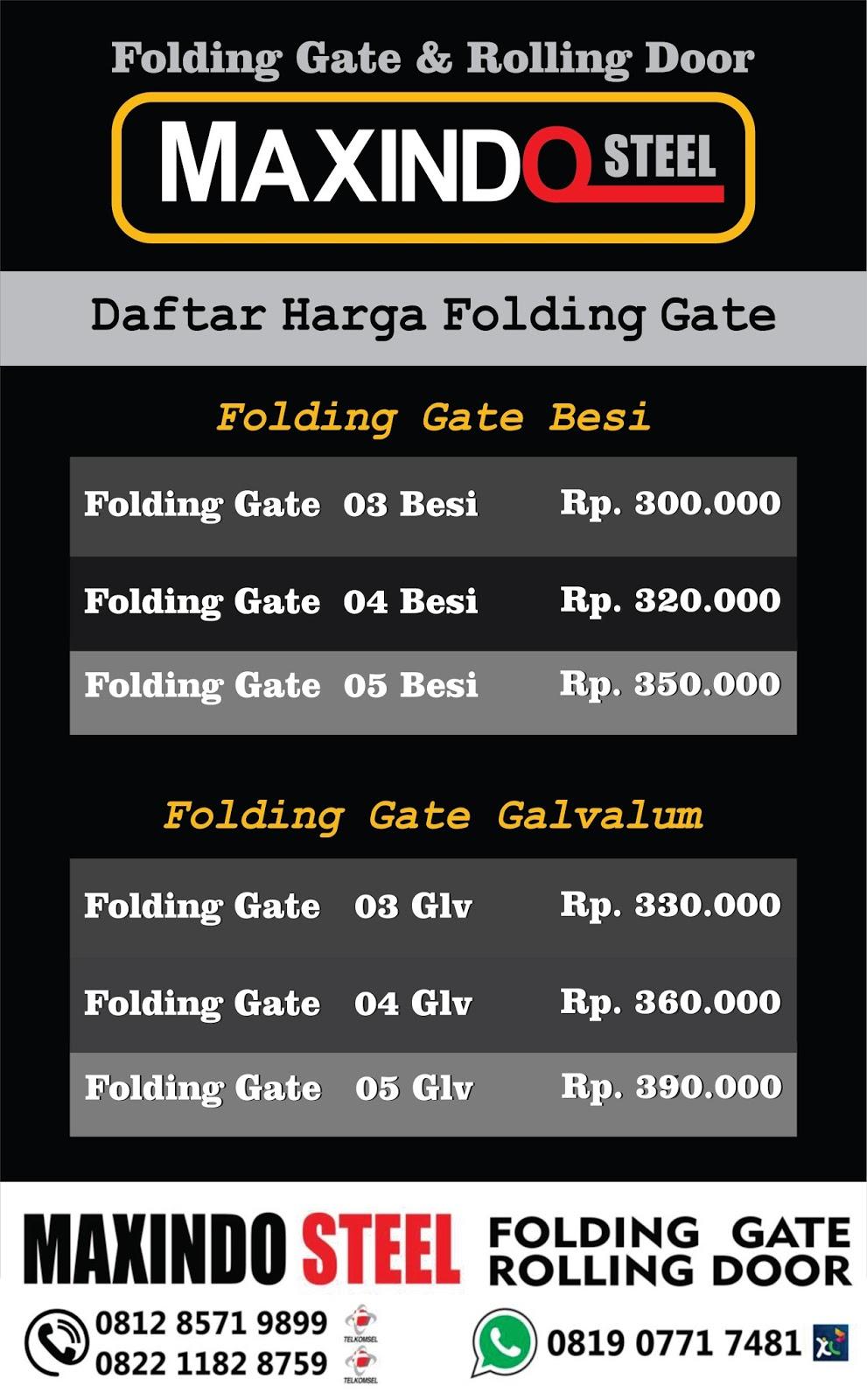 Folding Gate Jakarta Selatan Rolling Door Jakarta Selatan