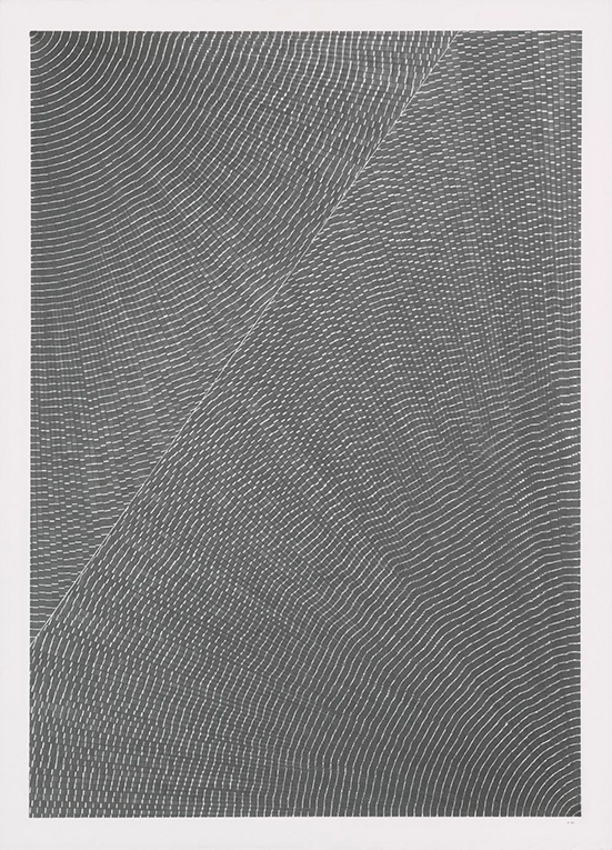 Alexandra Roozen Currents #03, 2019 pencil on paper 70 x 50 x 1 cm
