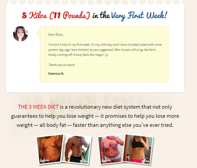 Drew Carey Diet Food List