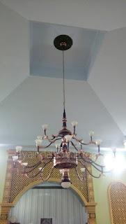 lampu  masjid - kerajinan tembaga dan kuningan