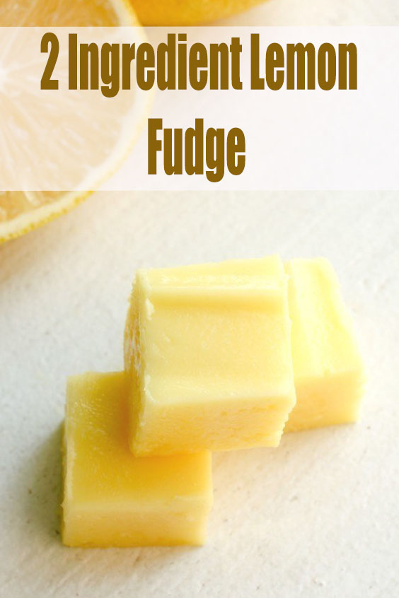 2 Ingredient Lemon Fudge