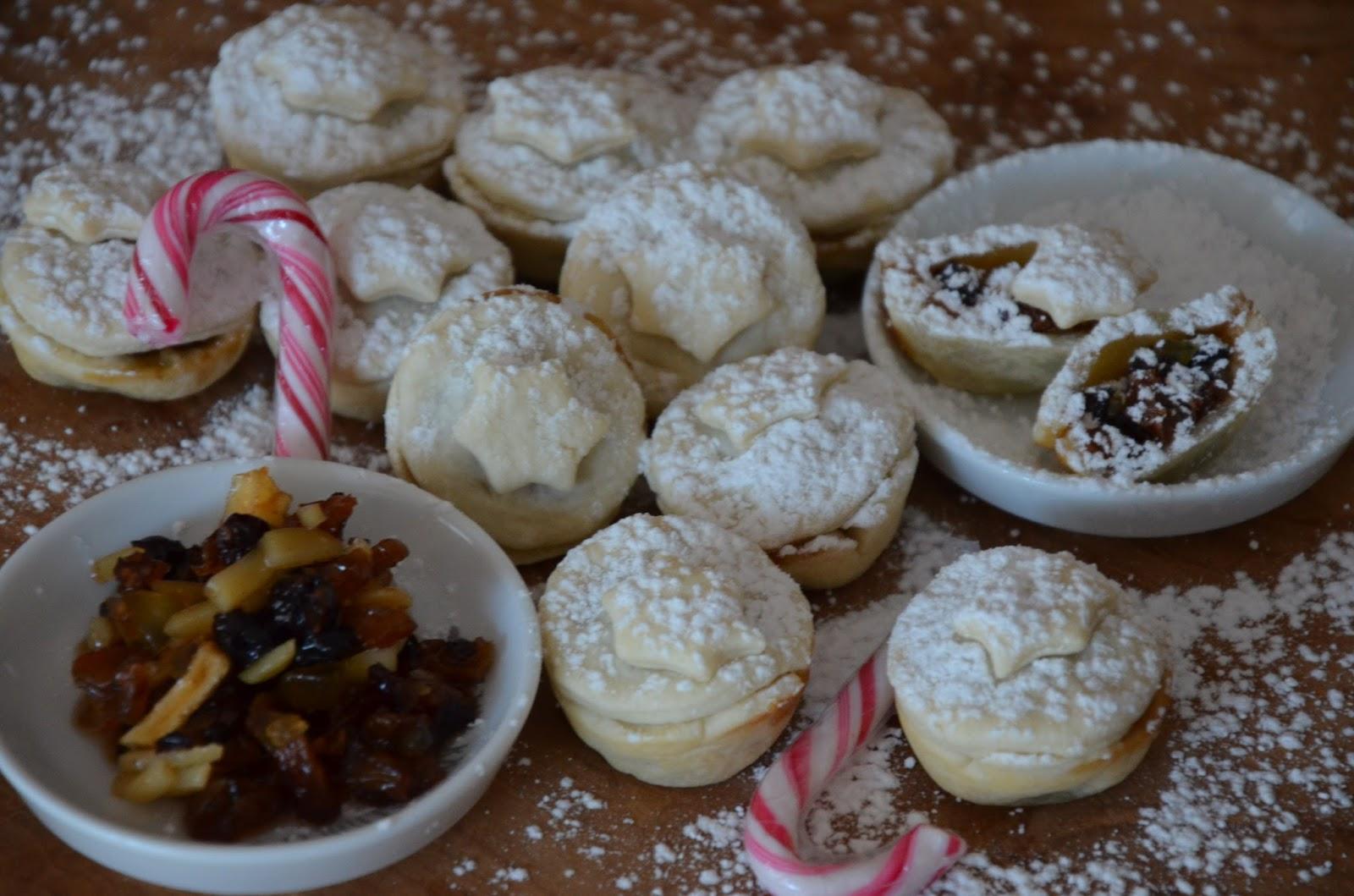 Traditionelles Weihnachtsgebäck.Mince Pies Ein Traditionelles Englisches Weihnachtsgebäck