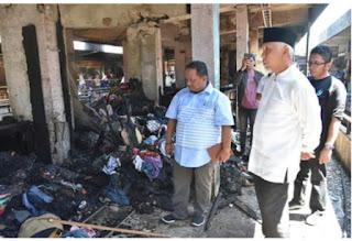 Wako dan Wawako Padang Tinjau Lokasi Kebakaran Padang Theatre