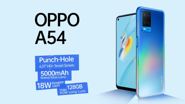 Desain Oppo A54  Juni 2021