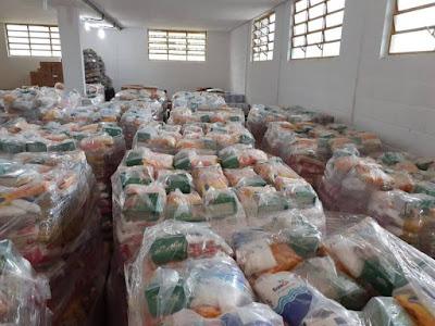 Educação de Registro-SP inicia distribuição de mais de 6 mil cestas de alimentação para os alunos da Rede Municipal