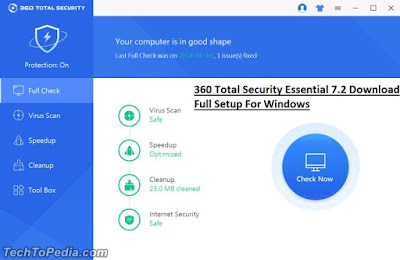 360 Total Security Essential 7.2 Download Full Setup For Windows
