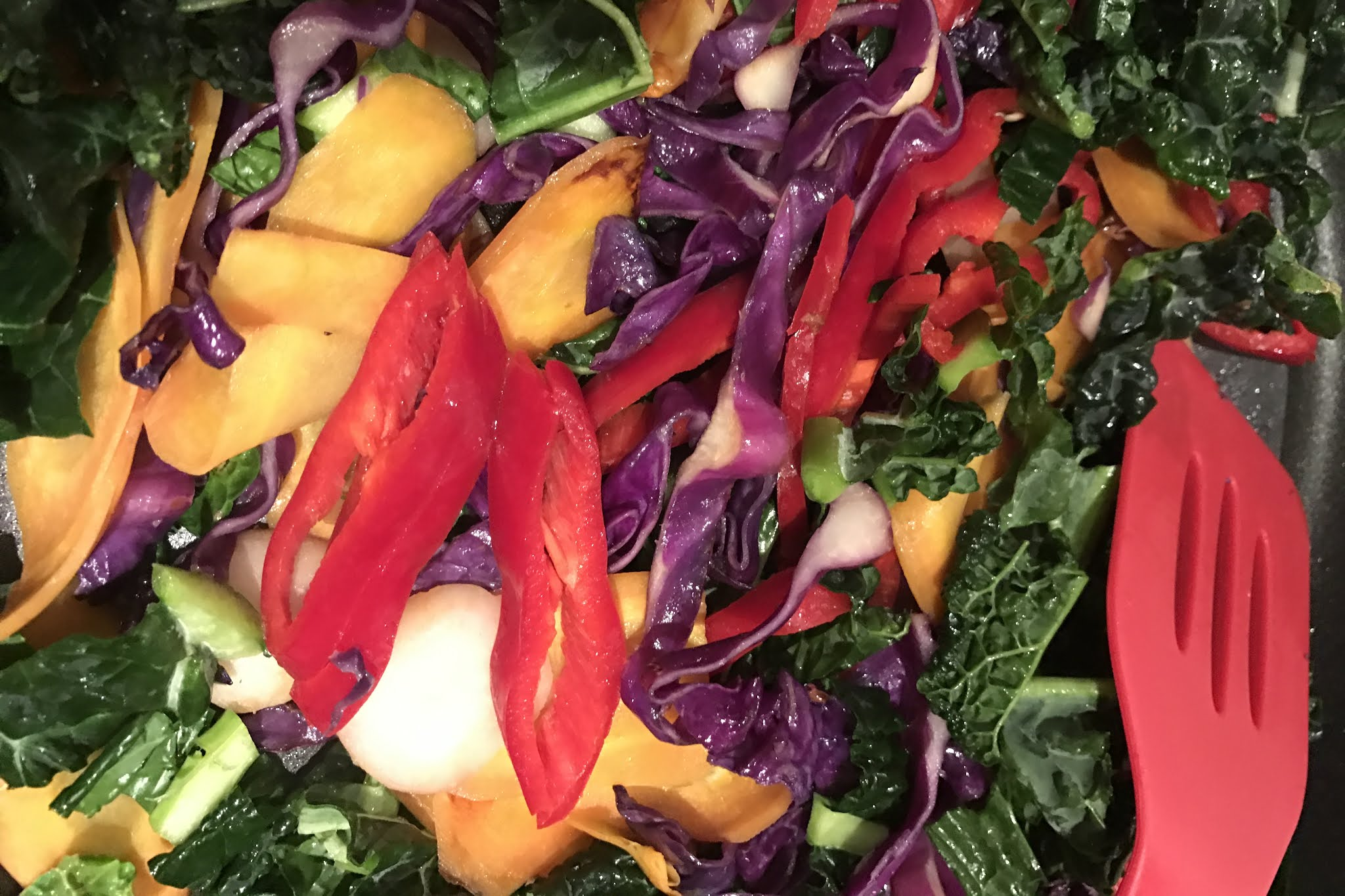 A colourful vegetable stir fry is not what I want to be eating