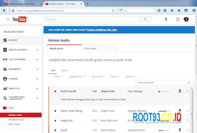 musik dari youtube tanpa atribusi