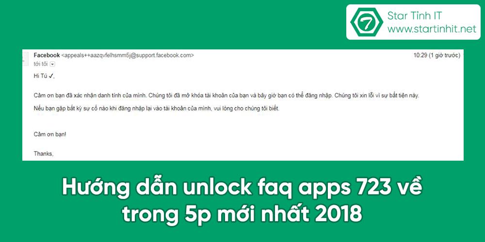 Hướng dẫn unlock faq apps 723 về trong 5p mới nhất 2018