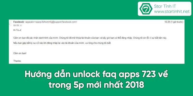 Hướng dẫn unlock faq apps 723 về trong 5p mới nhất 2019