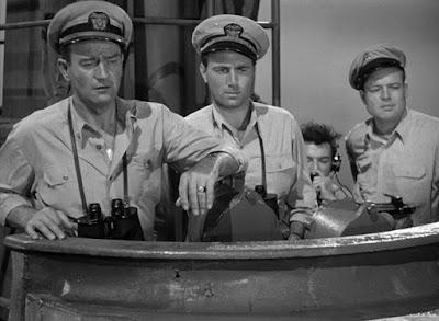 Película dirigida por George Waggner con John Wayne, Patricia Neal, Ward Bond y Scott Forbes