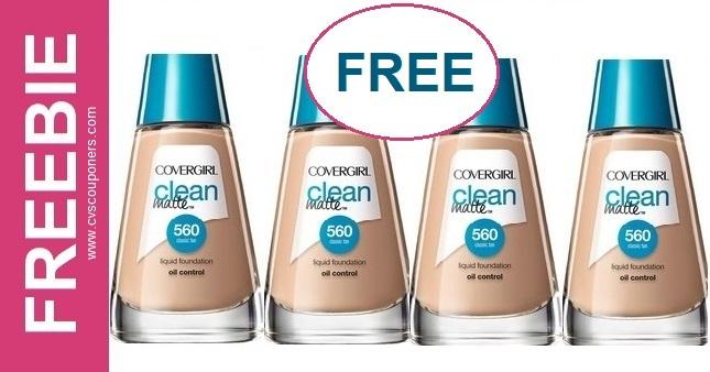 FREE CoverGirl Liquid Foundation at CVS 7-26-8-1
