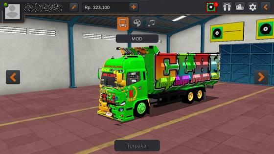 Livery Hino 500 Green Dumptruck